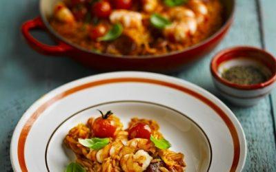 Prawn and Chorizo Orzo Recipe